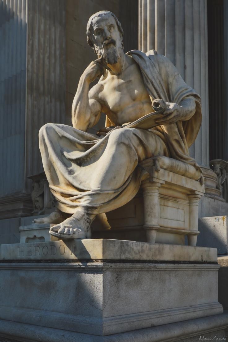 Hérodote au pied du parlement