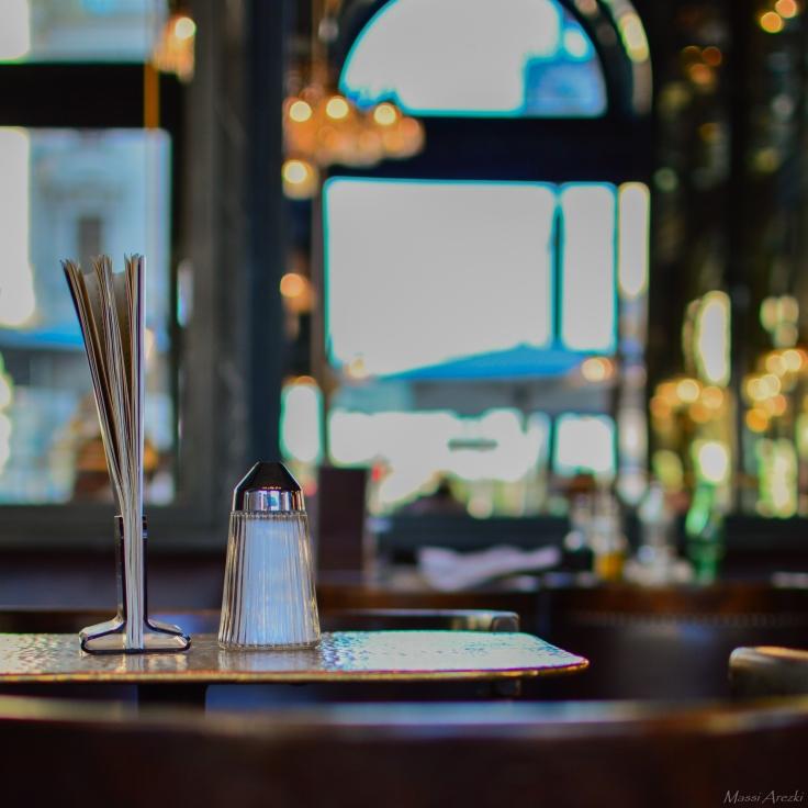 Pause café au café Schwarzenberg.