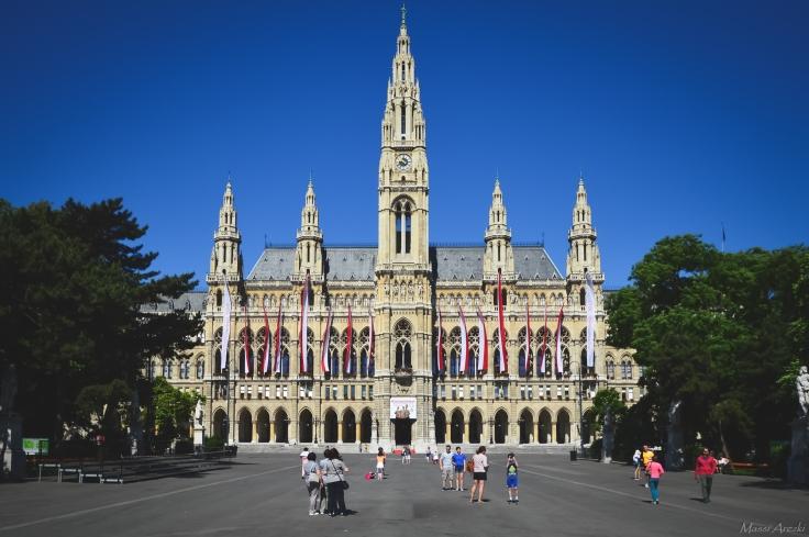 Rathaus, l'Hotel de ville de Vienne.